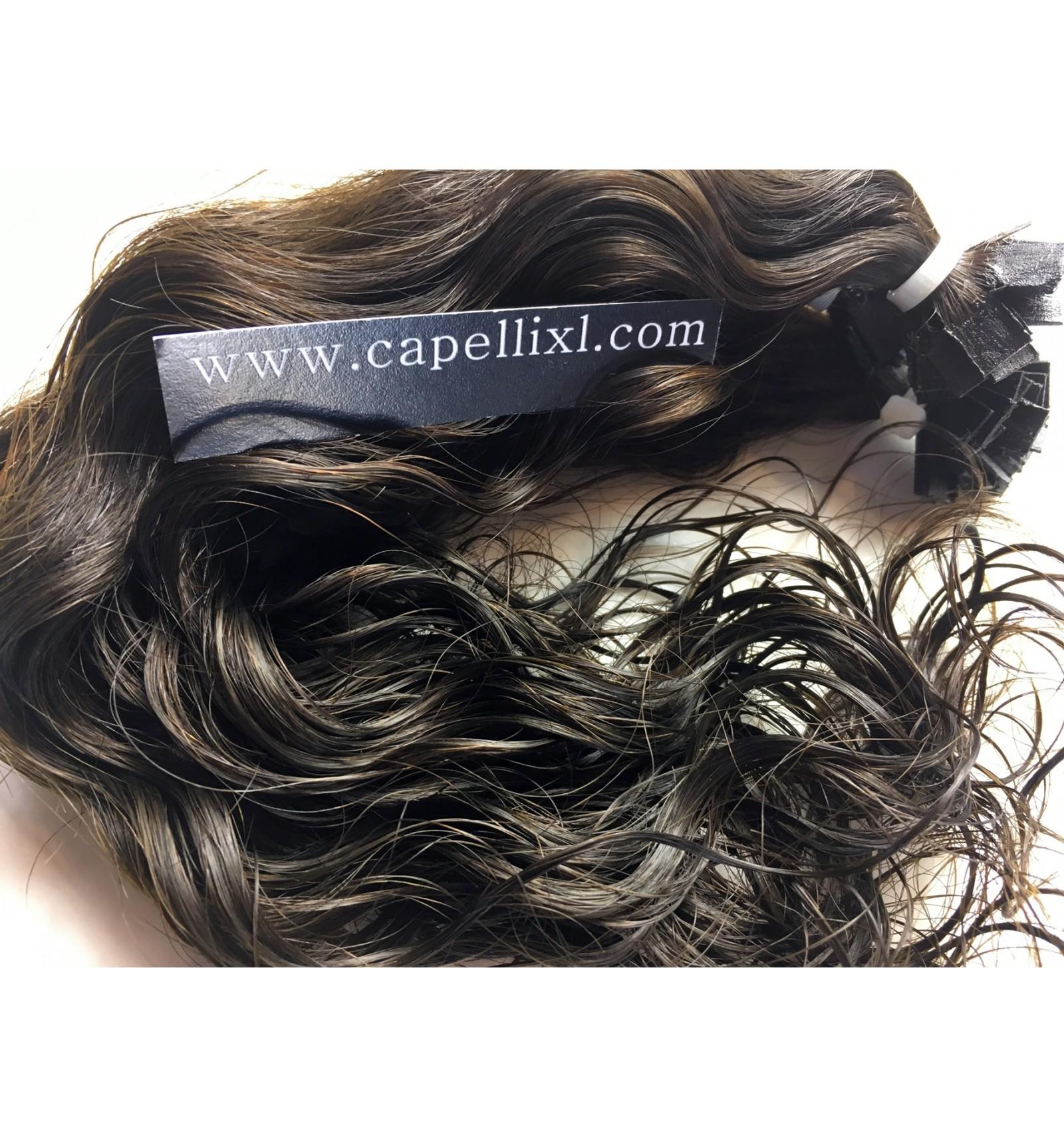 Ciocche XL di capelli veri remy, vergini Mossi Cheratina o ...