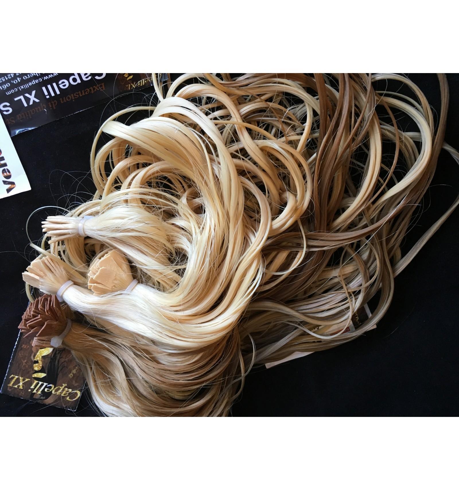 Ciocca XL con anelli capelli veri remy Indiani Capelli ...