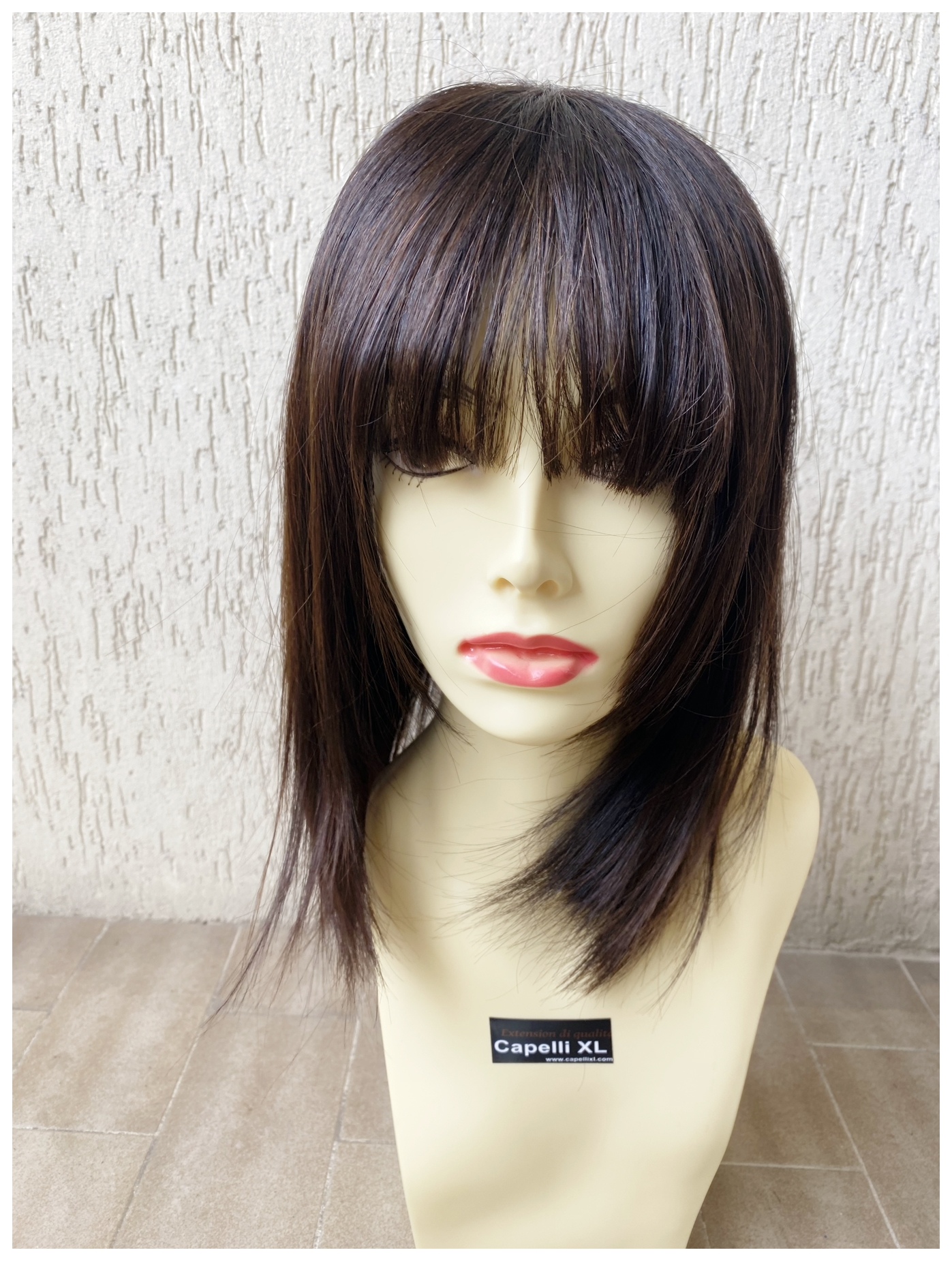 Mezza parrucca, Toupet, Infoltitore, Allungamento capelli con clip Effetto cinema, realizzato con capelli veri remy