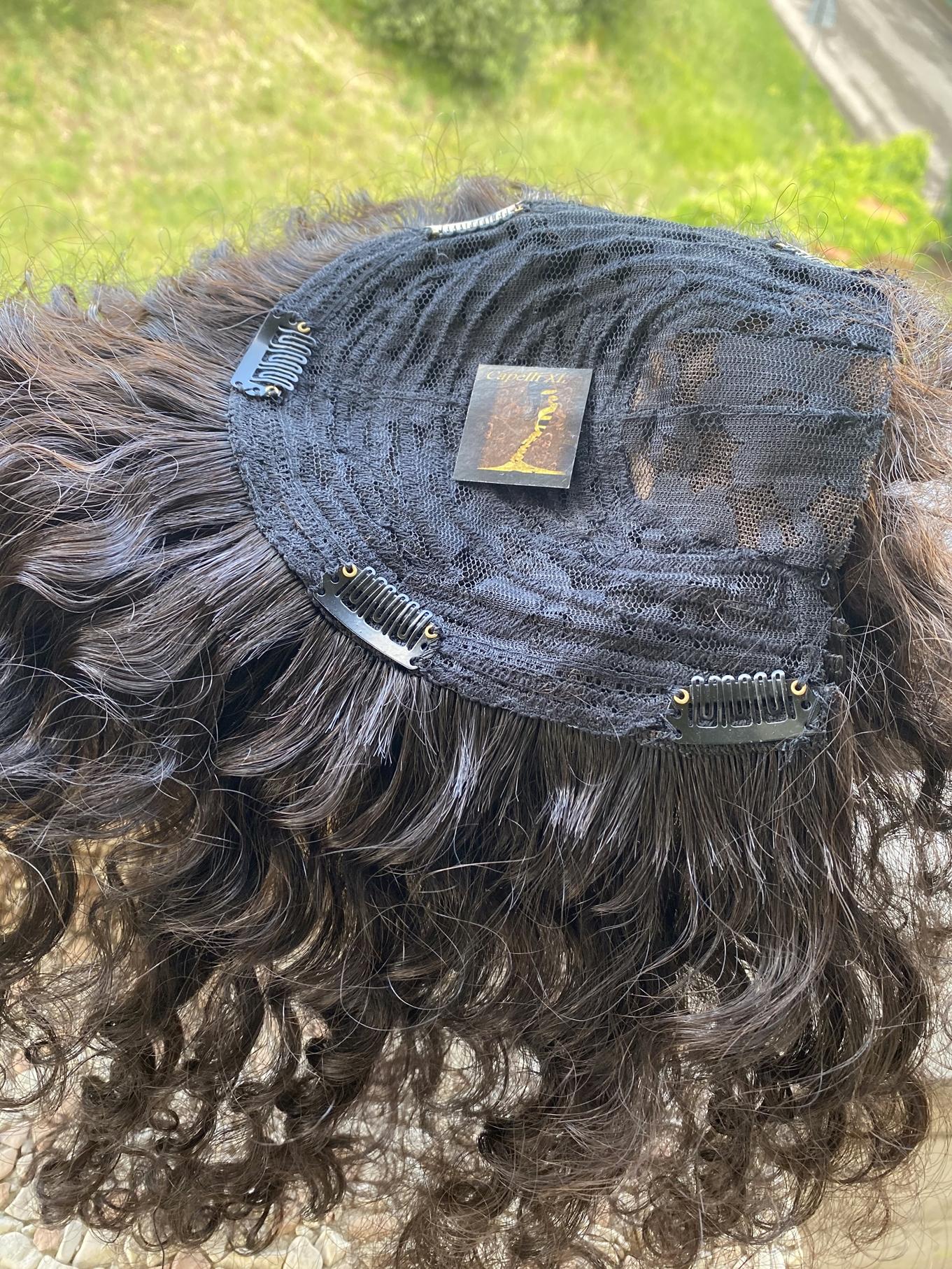 Toupet calotta con clip, per donna capelli veri remy capelli Brasiliani, da usare come infoltitore, allungamento, Vari colori disponibili