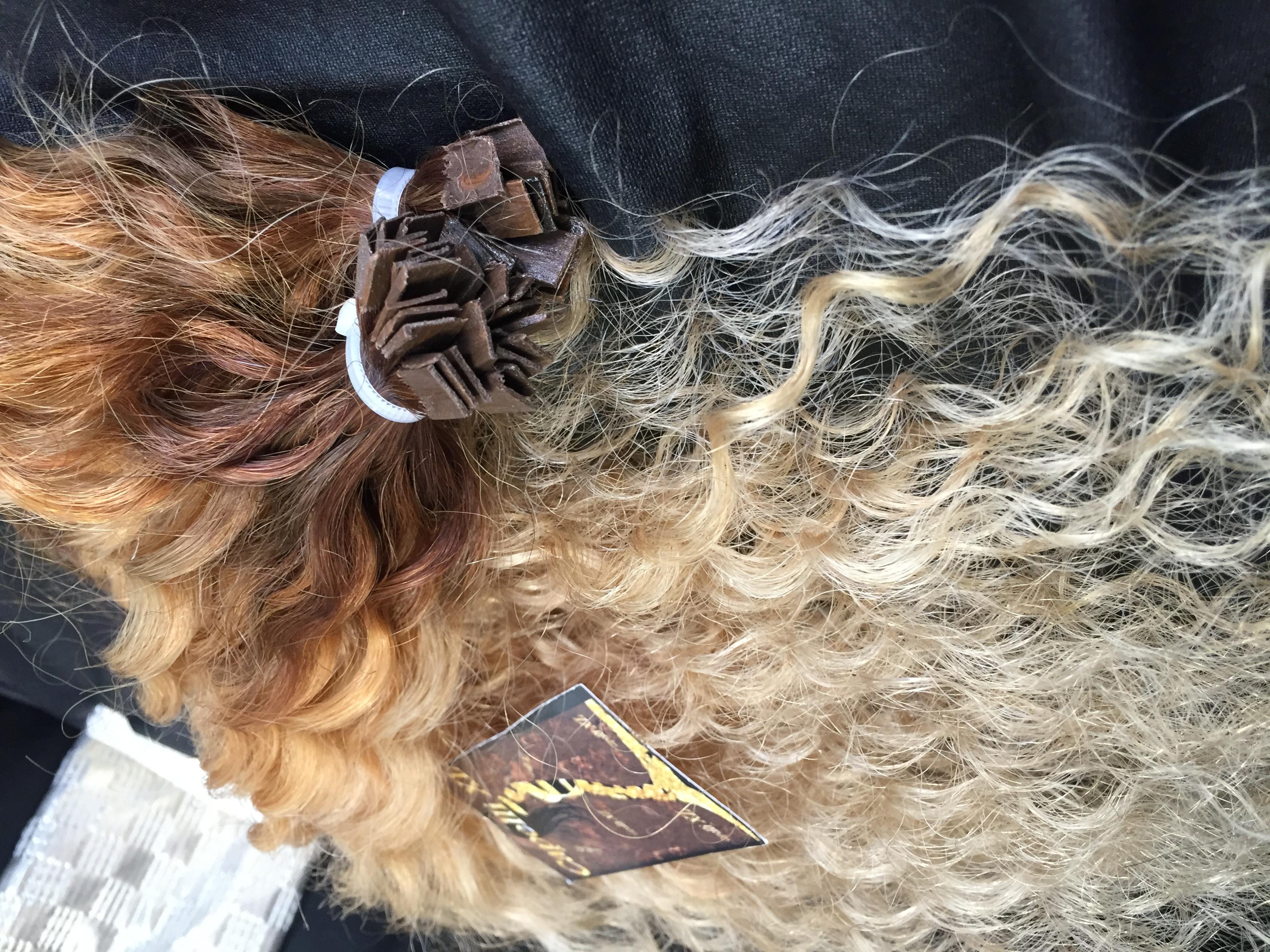 Ciocche per extension capelli veri Ricci Balayage