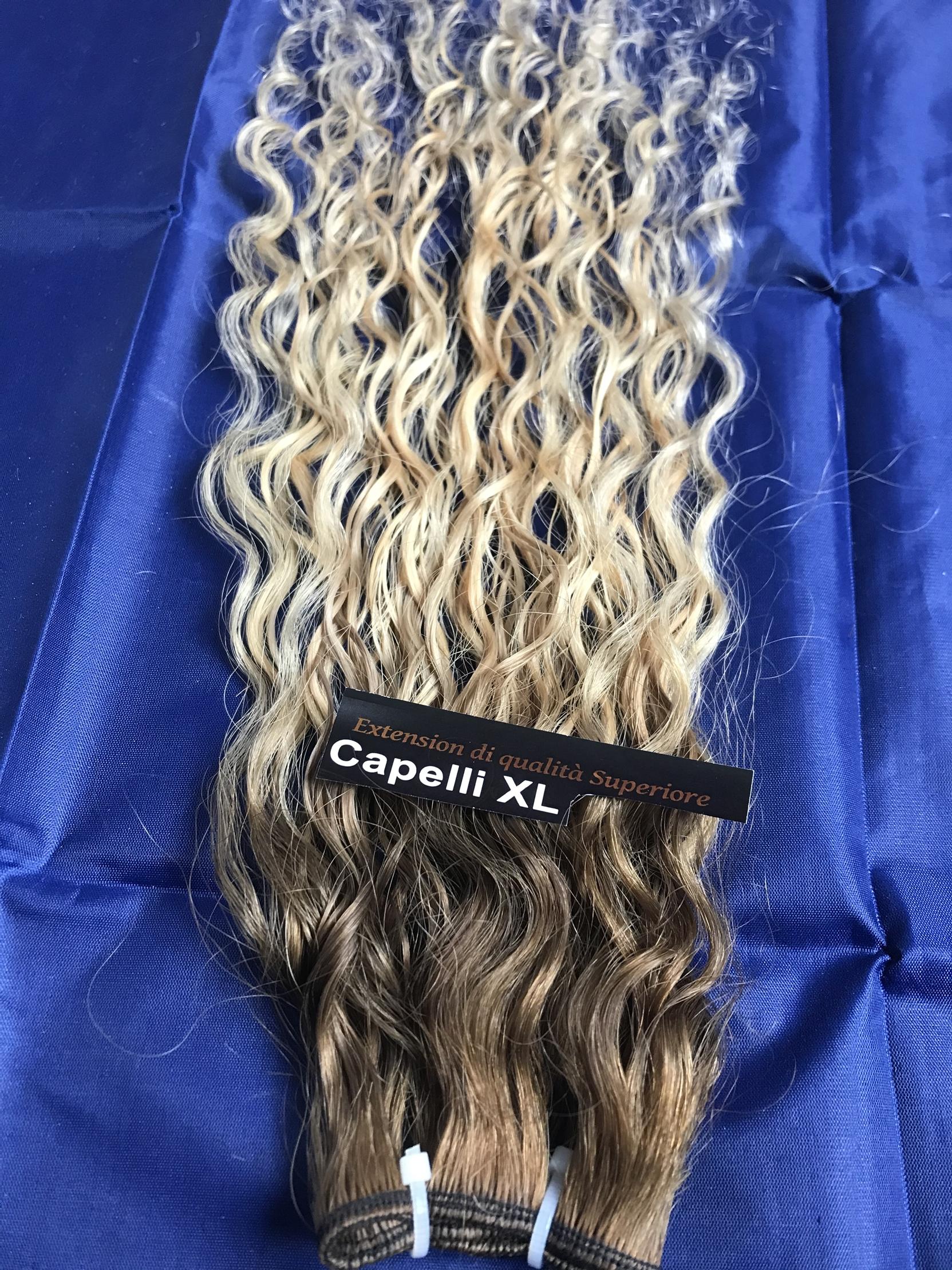 Capelli veri remy Balayage capelli ricci  sfumati Shatush