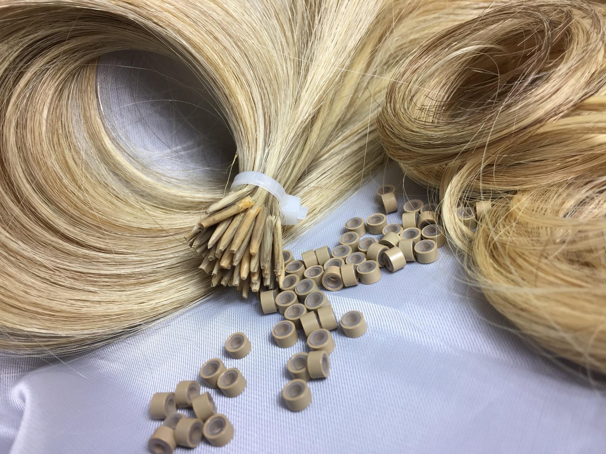 Ciocca per extension cheratina o microring Biondo mesciato