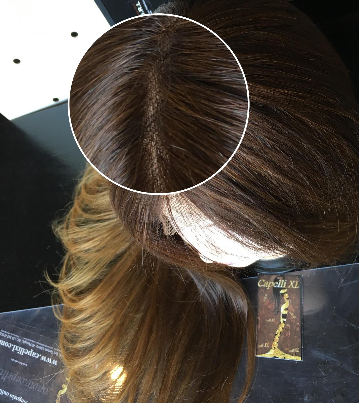 Parrucca di capelli veri balayage