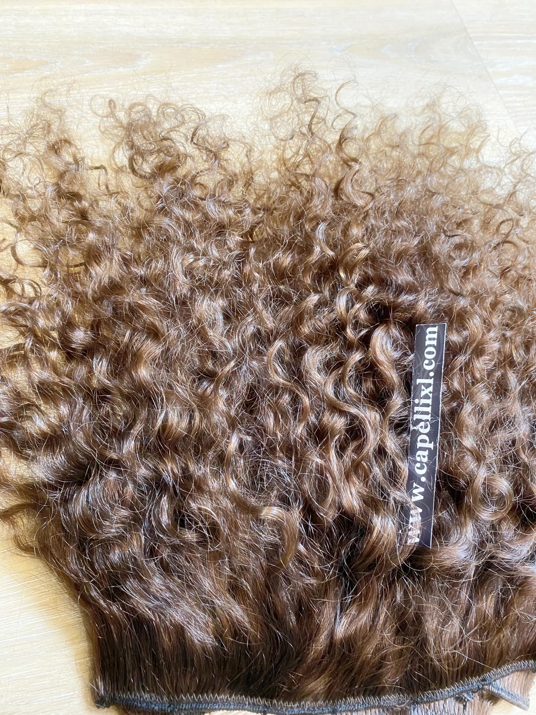 Extension Allungamento capelli veri soluzione a più fasce, Capelli veri remy di qualità Superiore Extension con clip Capelli umani