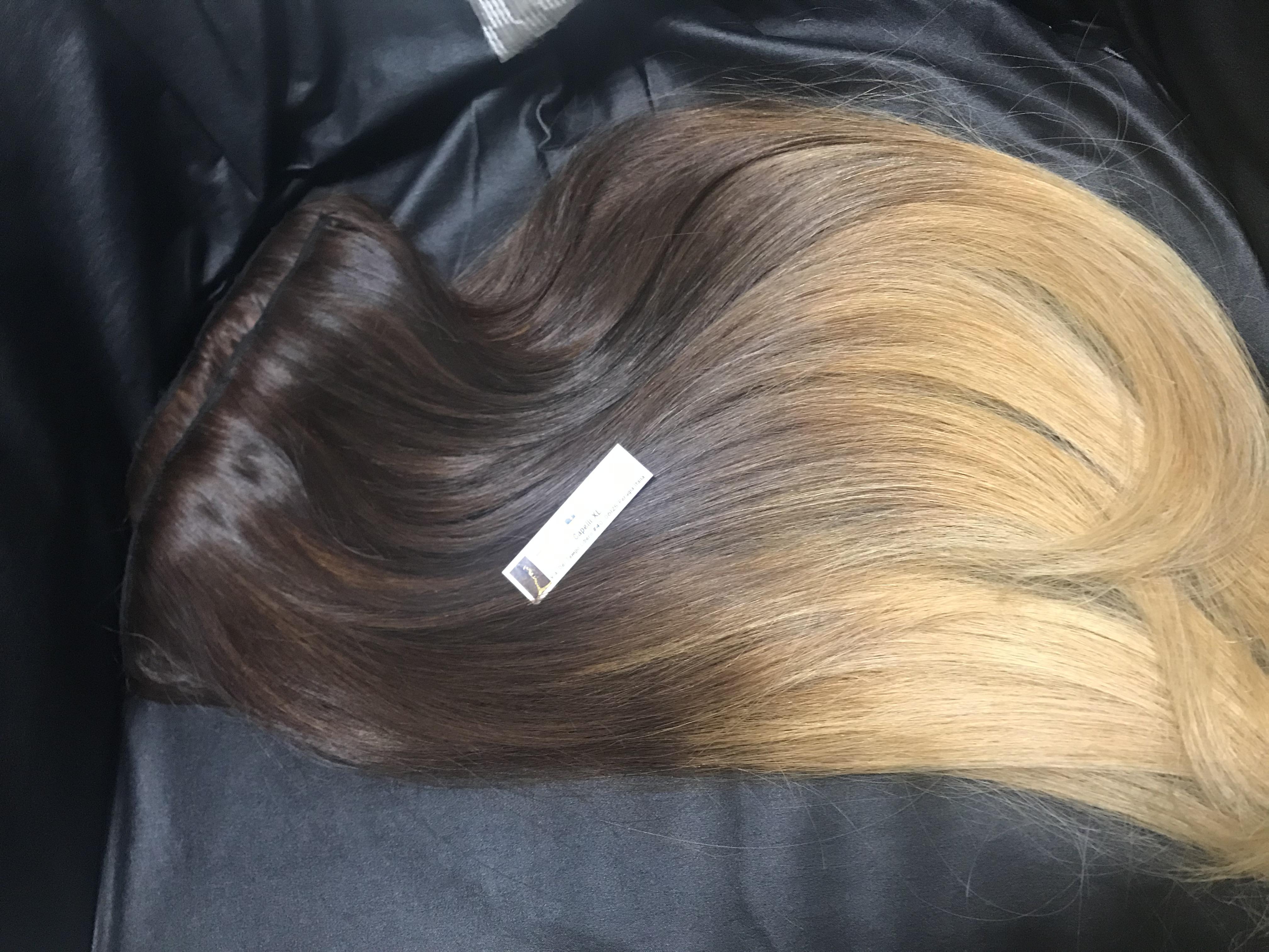 Extension con clip capelli veri remy Peruviani e indiani Colore sfumato Shatush