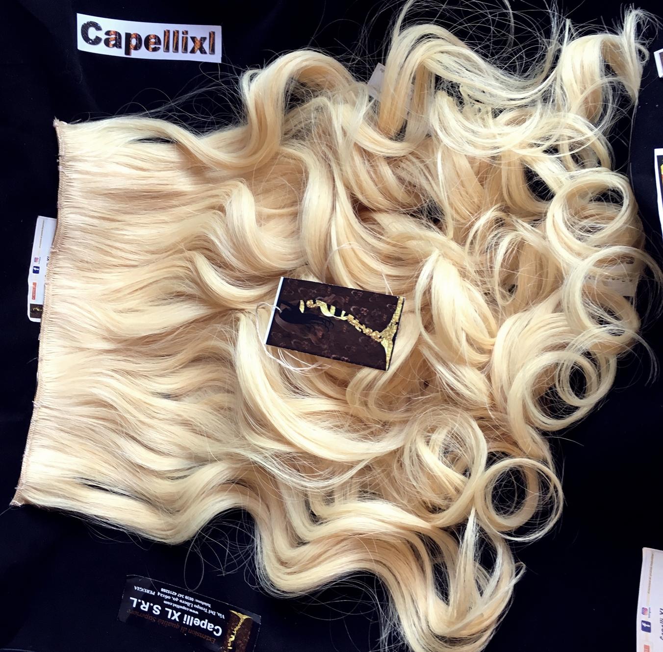 Allungamento capelli a fasce con clip per extension fai da te Capelli Europei