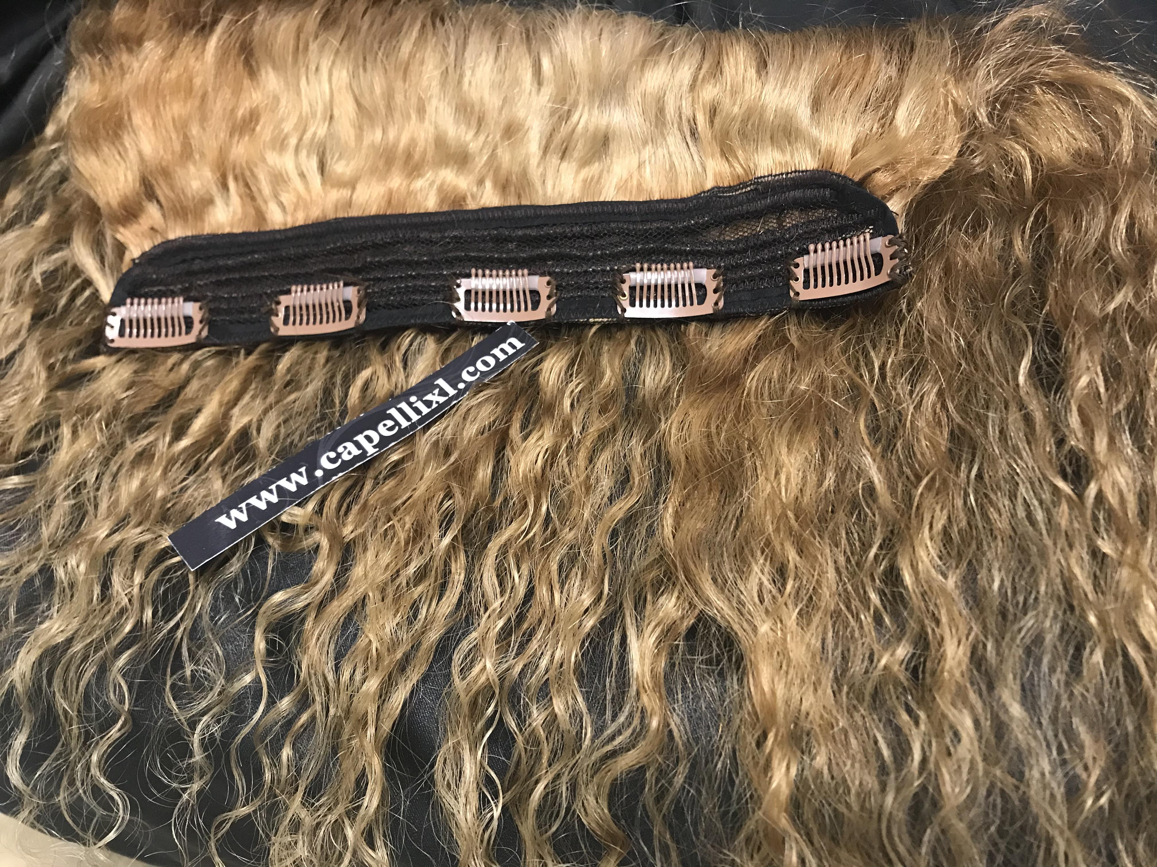 Set clip capelli veri remy biondi