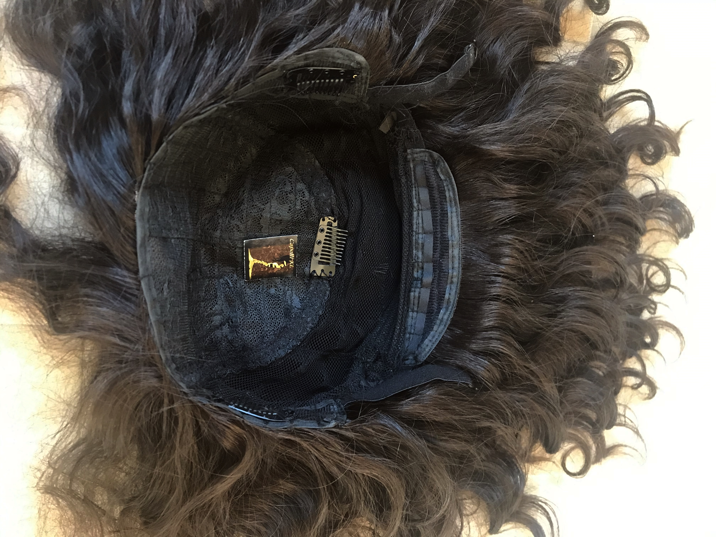 Parrucca riccia di capelli veri cucita a macchina Capelli brasiliani anche su misura