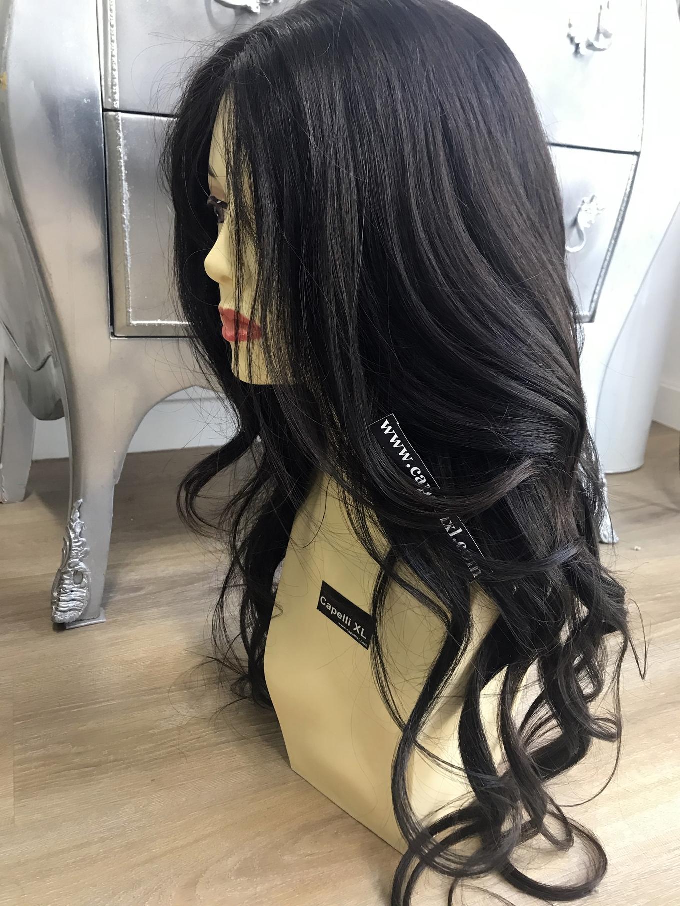 Parrucca naturale Capelli umani lavorazione artigianale fatta su misura Parrucca effetto cinema