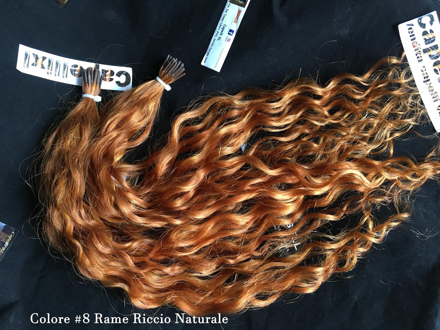 Ciocche ricce di capelli veri remy con cheratina colore Biondo Dorato