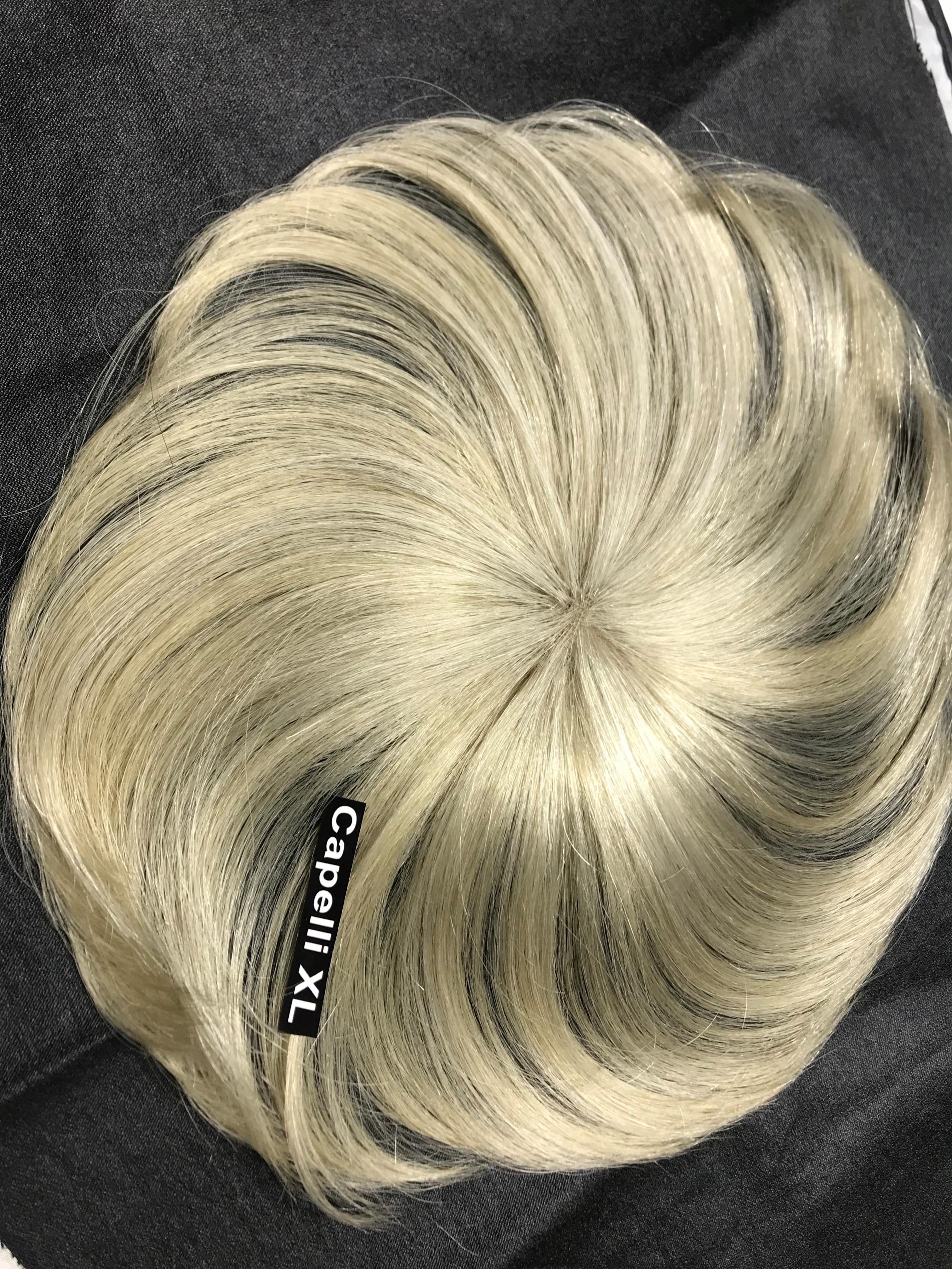 Ciuffo frangetta di capelli veri remy colore biondo