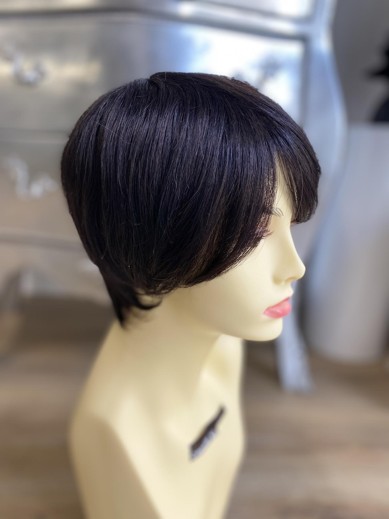 Parrucca di capelli veri remy Mono filamento totale, integrazione capelli uno ad uno con uncinetto ,capelli umani realizzata in italia