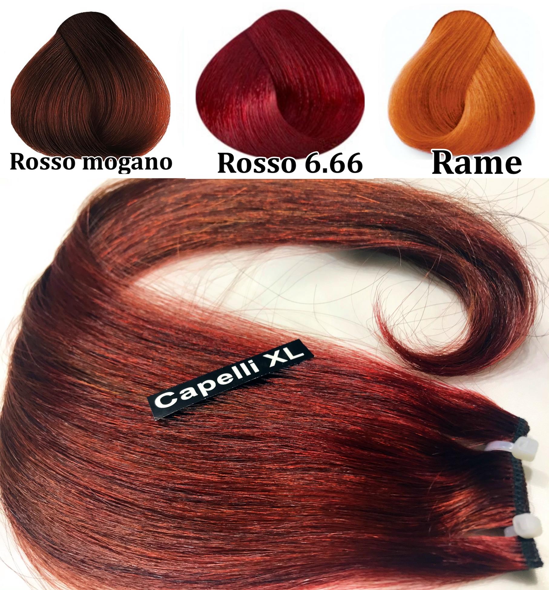 Capelli veri remy Colore Rosso 6.66 Rosso mogano, Colore rame