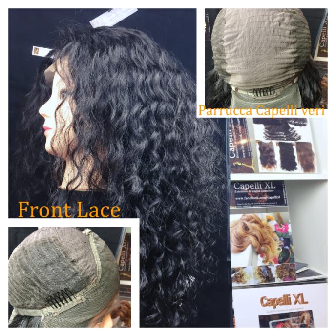 Parrucca di capelli veri remy ricci front lace integrazione frontale - Diversi tipi di permanente riccia ...